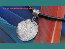 original pictographs or petroglyphs fine silver pendant.