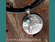 SOUL MATE, fine silver + opal pendant by Shendaehwas