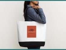 Two-Tone Deluxe Classic Cotton Tote Bag / Sac four-tout en coton 2 tons -Indian