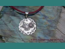 Strong little heart of joy & vibrating beauty,  artisan fine silver pendant  by Shendaehwas
