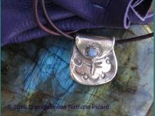 Dragonfly's medecine, silver medecine bag pendant by Shendaehwas