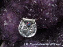 Dreamtime gate keeper , medicine bag with dragonfly silver pendant by Shendaehwas